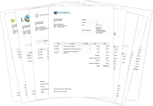 Example Invoices